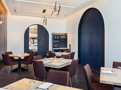 Inside the private dining room of Wolfgang Puck Kitchen + Bar