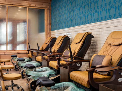 Pedicure chairs in the spa